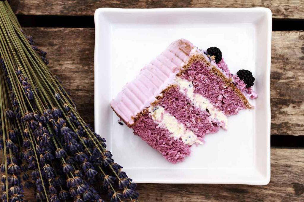 levanduľová torta recept
